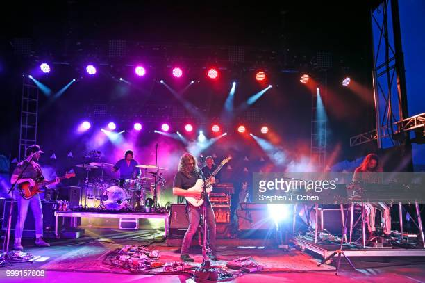 Adam Granduciel, David Hartley, Robbie Bennett , Charlie Hall, Jon Natchez, and Anthony LaMarca of The War On Drugs performs on Day 2 of the 2018...