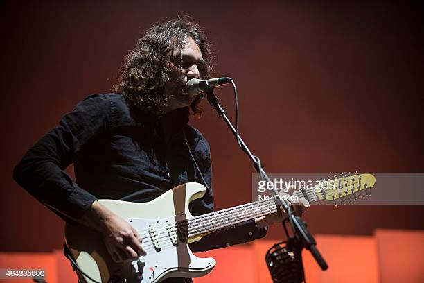 Adam Granduciel of The War On Drugs perform at O2 Academy Brixton on February 24 2015 in London England