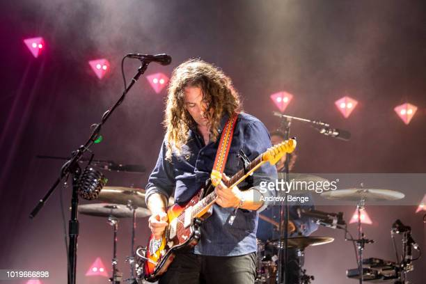 Adam Granduciel of The War On Drugs performs on the Mountain stage during day 3 at Greenman Festival on August 19, 2018 in Brecon, Wales.