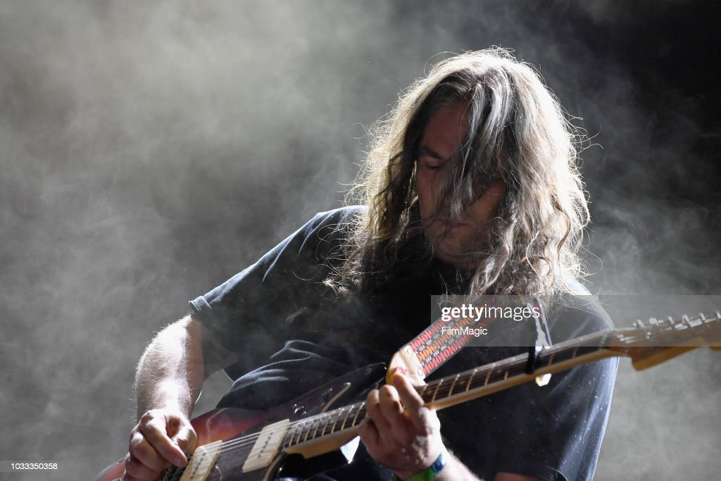 Adam Granduciel of The War On Drugs performs on the Paper Stage during day 1 of Grandoozy on September 14, 2018 in Denver, Colorado.