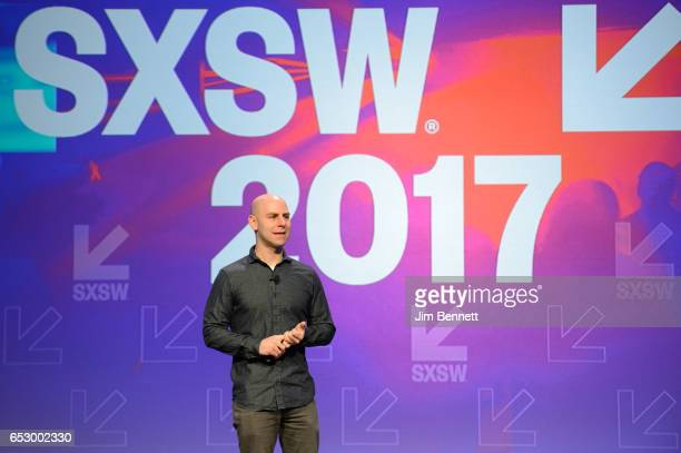 Adam Grant delivers the Interactive Keynote during the SxSW Conference at the Austin Convention Center on March 13 2017 in Austin Texas