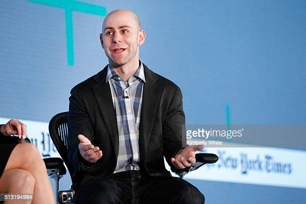 Adam Grant PhD Wharton School of Business professor speaks onstage at The New York Times New Work Summit on March 1 2016 in Half Moon Bay California