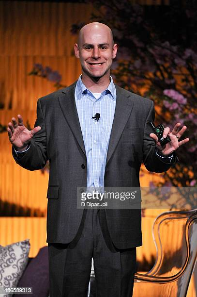 Adam Grant speaks on stage during THRIVE A Third Metric Live Event at New York City Center on April 24 2014 in New York City