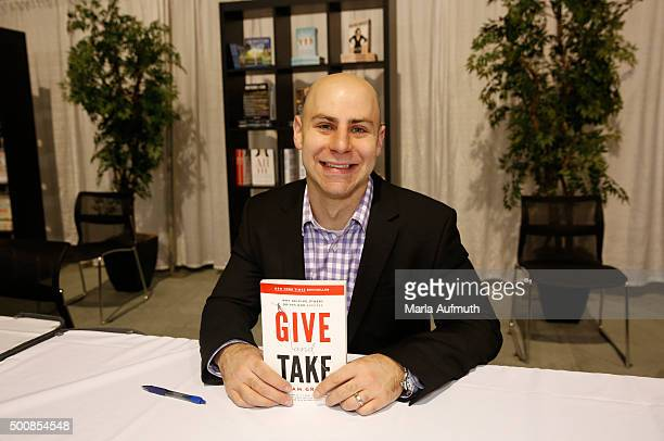 Adam Grant teacher Wharton School presents his book 'Give and Take' during Massachusetts Conference For Women at Boston Convention Exhibition Center...