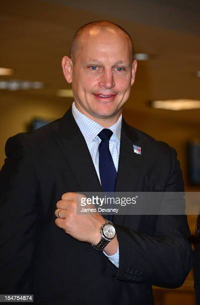 Adam Graves attends the unveiling of the new Tissot Swiss Watches Lobby Clocks at Madison Square Garden Box Office on October 25 2012 in New York City