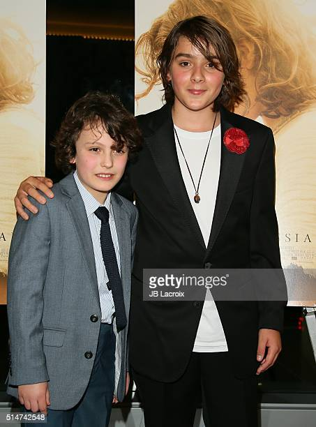 Adam Greaves Neal and Finn McLeodIreland attend the screening of Focus Features' The Young Messiah on March 10 2016 in Los Angeles California