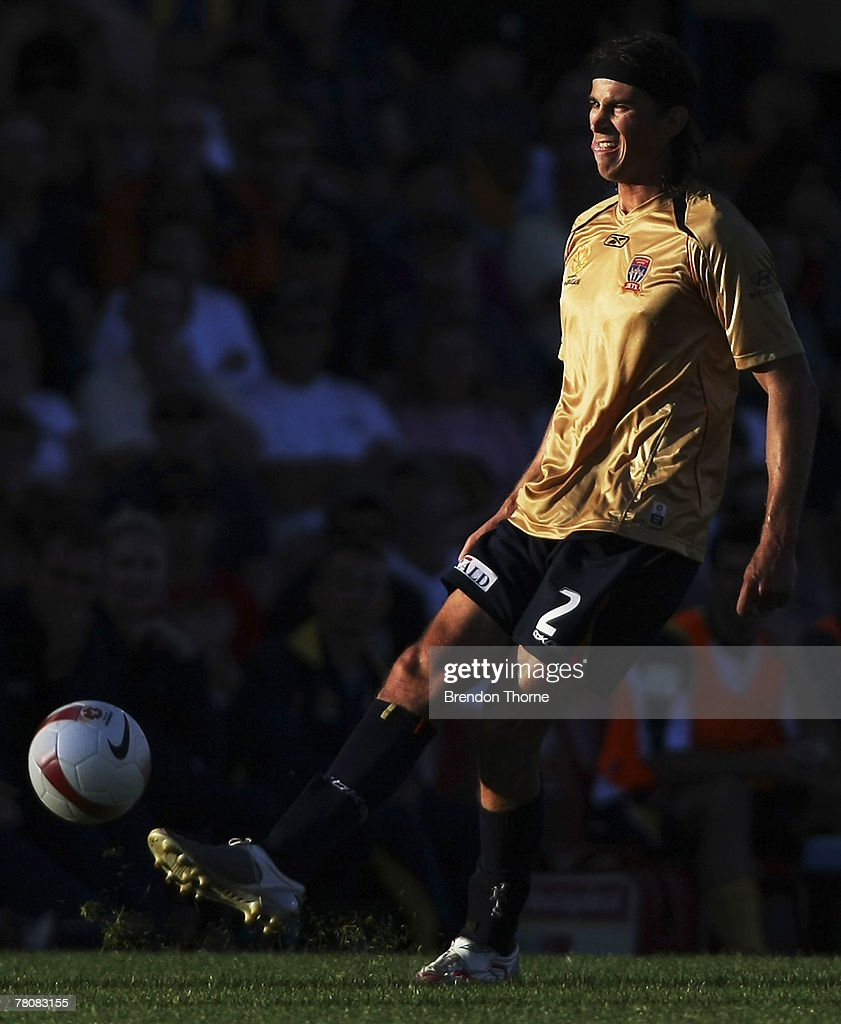 Adam Griffiths of the Jets in action during the round 14 A-League match between the Newcastle Jets and the Central Coast Mariners at EnergyAustralia Stadium on November 25, 2007 in Newcastle, Australia.