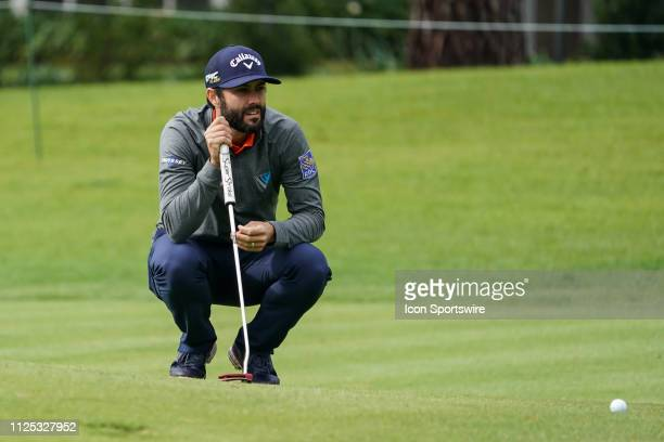 Adam Hadwin during the First Round of the Genesis Open on February 14 at Riviera Country Club in Pacific Palisades CA