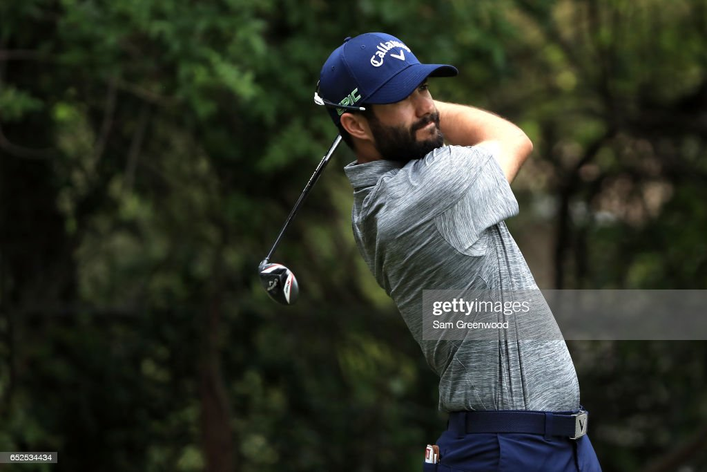 Adam Hadwin hits off the third tee during the final round of the Valspar Championship at Innisbrook Resort Copperhead Course on March 12, 2017 in Palm Harbor, Florida.