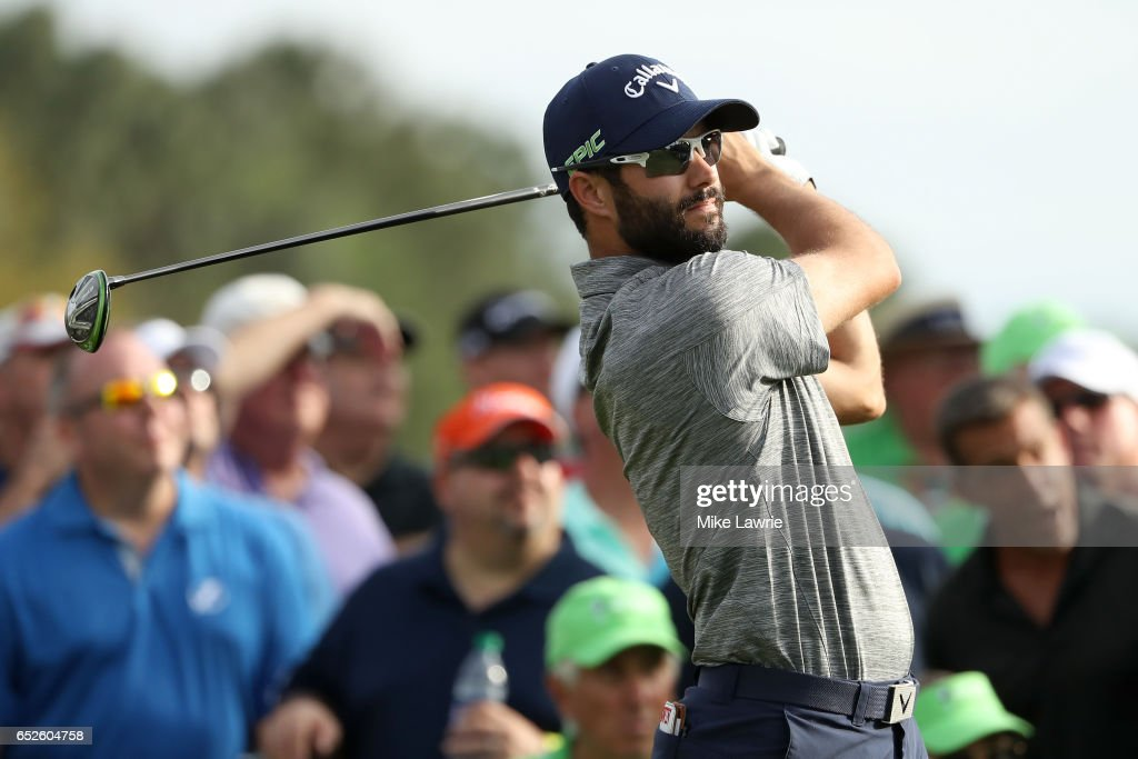 Adam Hadwin of Canada hits off the 18th tee during the final round of the Valspar Championship at Innisbrook Resort Copperhead Course on March 12, 2017 in Palm Harbor, Florida.