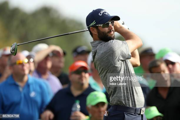 Adam Hadwin of Canada hits off the 18th tee during the final round of the Valspar Championship at Innisbrook Resort Copperhead Course on March 12...