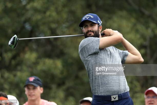 Adam Hadwin of Canada hits off the sixth tee during the final round of the Valspar Championship at Innisbrook Resort Copperhead Course on March 12...