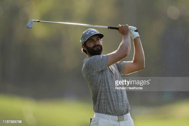 Adam Hadwin of Canada in action during the second round of The PLAYERS Championship on The Stadium Course at TPC Sawgrass on March 15 2019 in Ponte...
