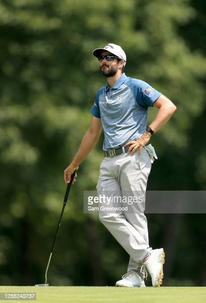 Adam Hadwin of Canada looks on during the first round of the Workday Charity Open on July 09, 2020 at Muirfield Village Golf Club in Dublin, Ohio.