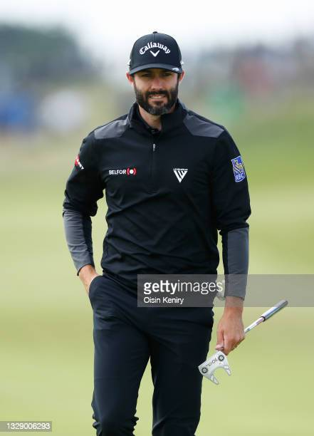 Adam Hadwin of Canada looks on from the seventh hole during Day Two of The 149th Open at Royal St George's Golf Club on July 16, 2021 in Sandwich,...