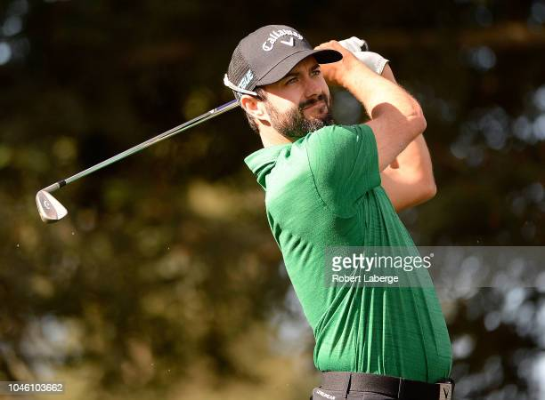Adam Hadwin of Canada plays his shot from the 12th tee during the second round of the Safeway Open at the North Course of the Silverado Resort and...