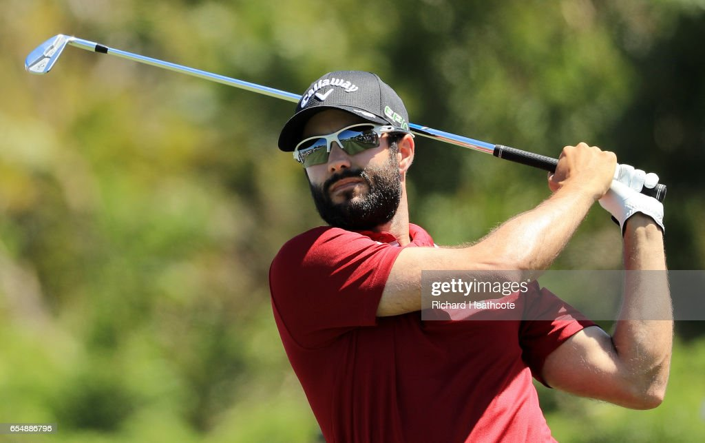 Adam Hadwin of Canada plays his shot from the seventh tee during the third round of the Arnold Palmer Invitational Presented By MasterCard at Bay Hill Club and Lodge on March 18, 2017 in Orlando, Florida.
