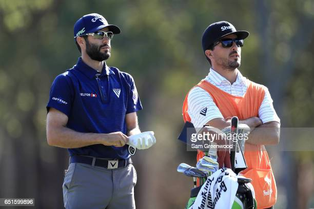 Adam Hadwin of Canada prepares to hit off the 17th tee during the second round of the Valspar Championship at Innisbrook Resort Copperhead Course on...