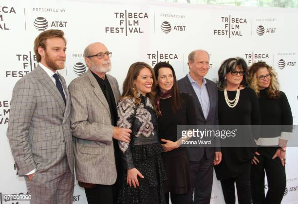Adam Haggiag Alexandra Dean Lodi Loder Michel Kantor and Denise Loder Deluca attend the 'Bombshell The Hedy Lamarr Story' Premiere at SVA Theatre on...