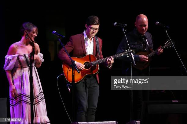 Adam Hambrick and Emily Hackett perform during the Fourth Annual AIMP Nashville Awards at Ryman Auditorium on April 30 2019 in Nashville Tennessee