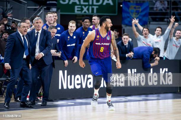 Adam Hanga of FC Barcelona Lassa during King's Cup Quarter Finals match between Valencia Basket and FC Barcelona Lassa at Wizink Center in Madrid...