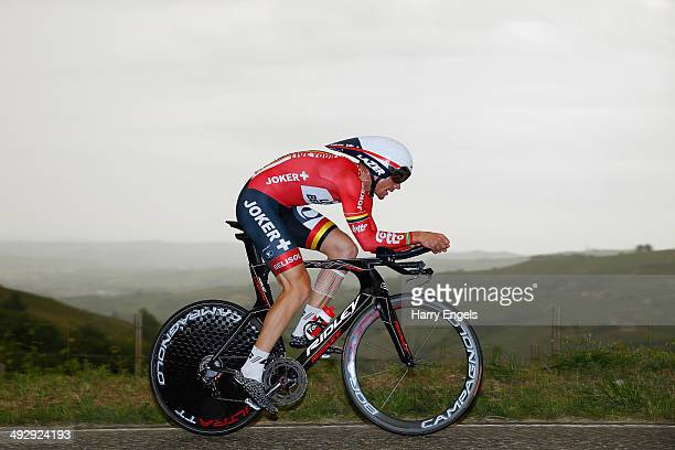Adam Hansen of Australia and team Lotto Belisol in action during the twelfth stage of the 2014 Giro d'Italia a 42km Individual Time Trial stage...