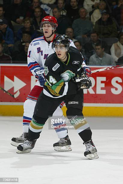 Adam Hasani of the London Knights skates against the Kitchener Rangers at the John Labatt Centre on November 16 2006 in London Ontario Canada