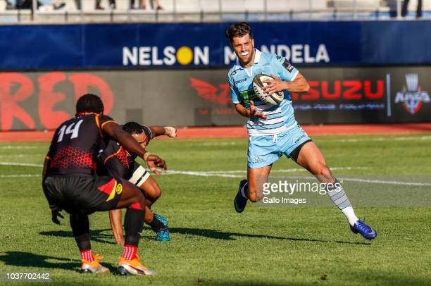 Adam Hastings of Glasgow Warriors during the Guinness Pro14 match between Isuzu Southern Kings and Glasgow Warriors at Nelson Mandela Bay University...