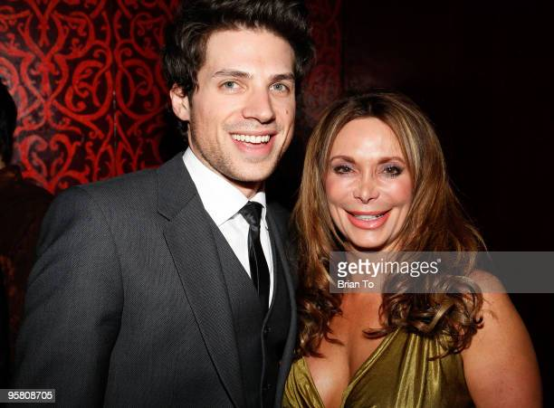 Adam Havener and Lesley Vogel Panettiere pose together at Havener's birthday party at Beso Restaurant at Beso on January 15 2010 in Hollywood...