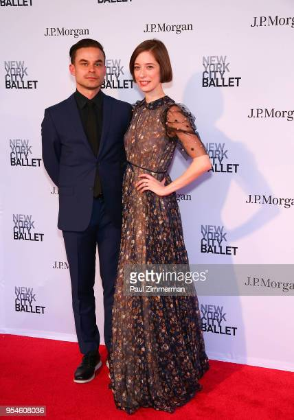 Adam Hendrickson and Rebecca Krone attend the 2018 New York City Ballet Spring Gala at David H Koch Theater Lincoln Center on May 3 2018 in New York...