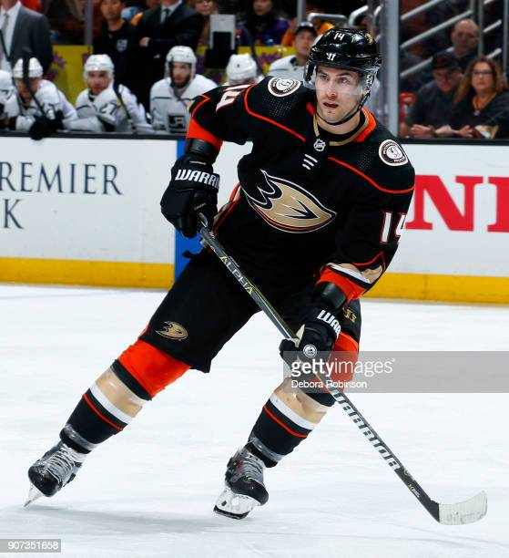Adam Henrique of the Anaheim Ducks skates during the game against the Los Angeles Kings on January 19 2018 at Honda Center in Anaheim California