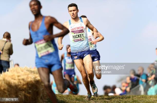 Adam Hickey of Great Britain competes in the Senior Men's Final during the IAAF World Athletics Cross Country Championships on March 30 2019 in...