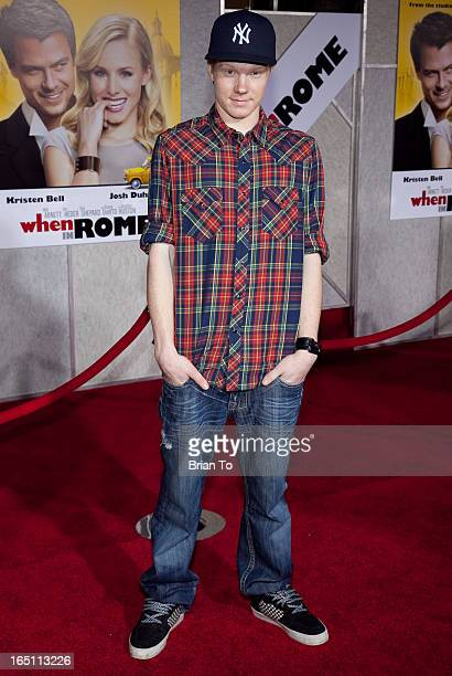 Adam Hicks attends the world premiere of Touchstone Pictures' 'When in Rome' held at the El Capitan Theater on January 27 2010 in Los Angeles...