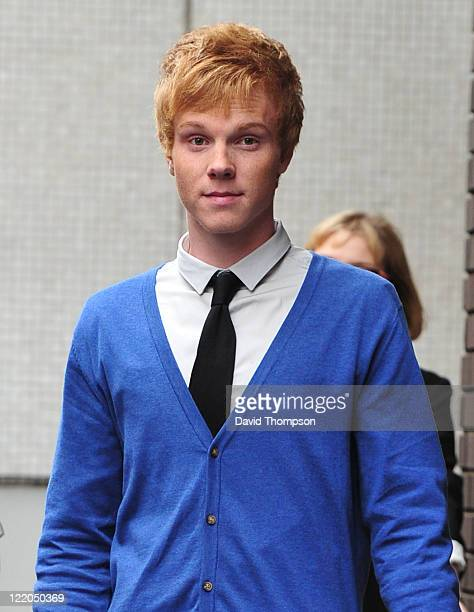 Adam Hicks of American Band Lemonade Mouth seen leaving the ITV Studios on August 25 2011 in London England