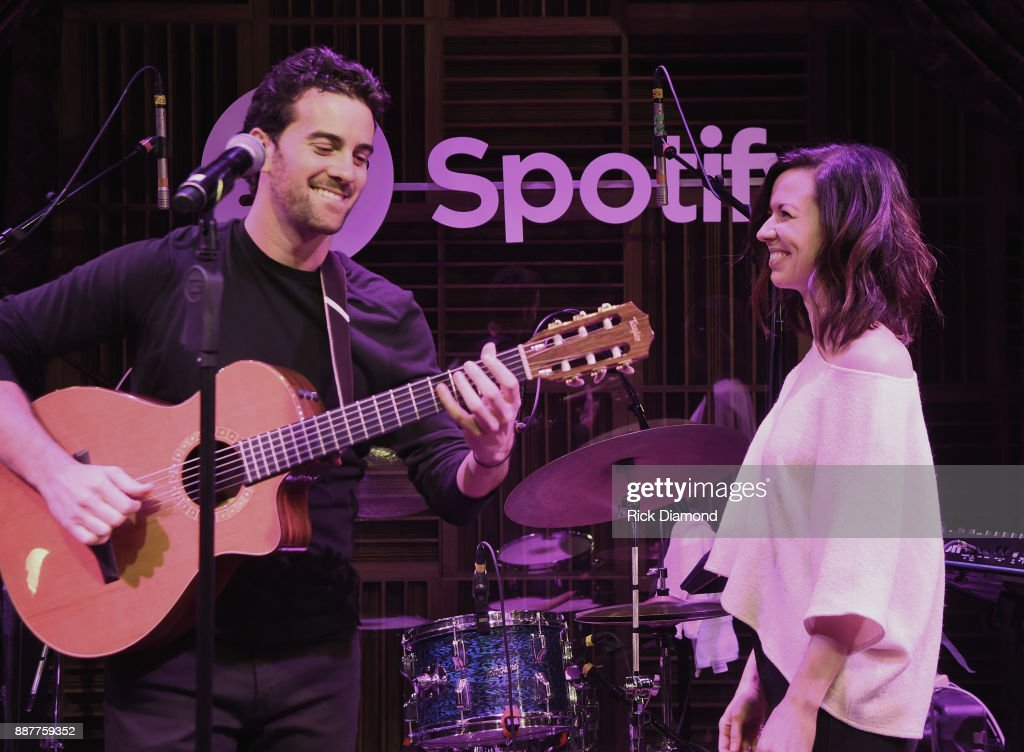 Adam Hoffman of The Shadowboxers and special guest Joy Williams performs onstage for Spotify Open House Nashville at Analog at the Hutton Hotel on December 6, 2017 in Nashville, Tennessee.