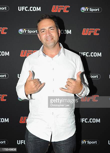 Adam Hollioake atttends the Paramount Club during the Jon Jones and Alex Gustafsson Press Tour of London on August 3 2013 in London England