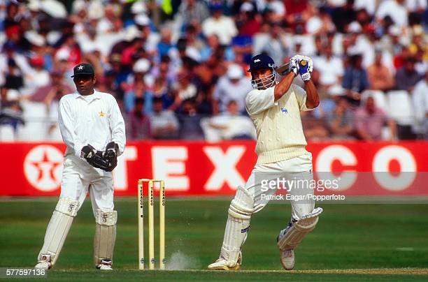 Adam Hollioake batting for England during the 3rd Texaco Trophy One Day International between England and Pakistan at Trent Bridge Nottingham 1st...