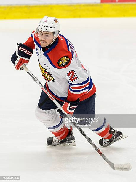Adam Holwell of the Moncton Wildcats skates during the QMJHL game against the Blainville-Boisbriand Armada at the Centre d'Excellence Sports Rousseau...