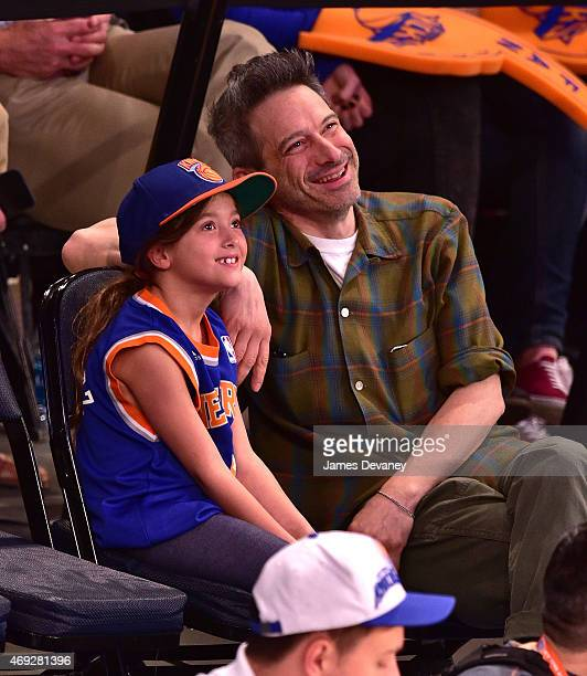 Adam Horovitz attends Milwaukee Bucks vs New York Knicks game at Madison Square Garden on April 10 2015 in New York City