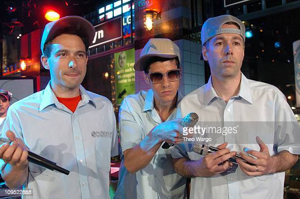Adam Horovitz Mike Diamond and Adam Yauch of Beastie Boys