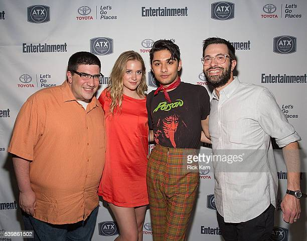 Adam Horowitz Elizabeth Lail Mark Indelicato and Edward Kitsis attend the Ugly Betty Reunion After Party presented with Entertainment Weekly...