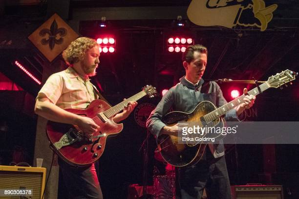 Adam Hoskins and Pokey LaFarge perform at Tipitina's on December 10 2017 in New Orleans Louisiana