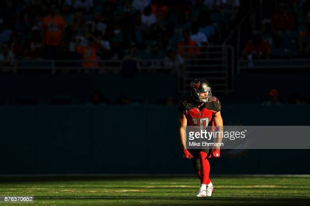 Adam Humphries of the Tampa Bay Buccaneers during the fourth quarter against the Miami Dolphins at Hard Rock Stadium on November 19 2017 in Miami...