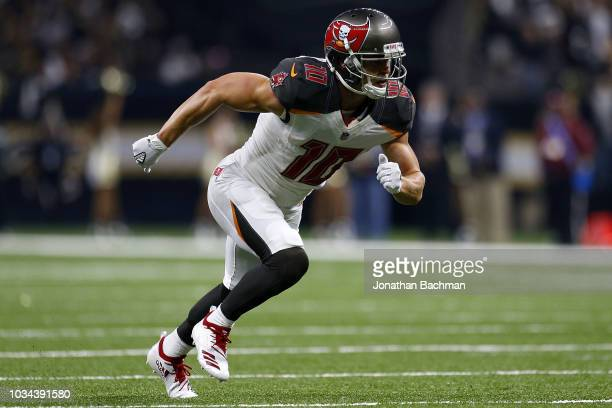 Adam Humphries of the Tampa Bay Buccaneers runs during a game against the New Orleans Saints at the MercedesBenz Superdome on September 9 2018 in New...