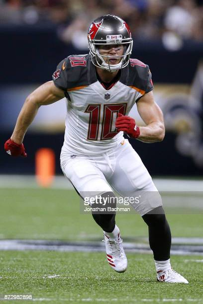 Adam Humphries of the Tampa Bay Buccaneers runs during a game against the New Orleans Saints at the MercedesBenz Superdome on November 5 2017 in New...