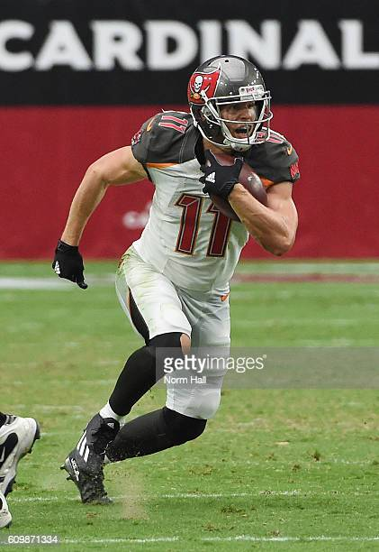 Adam Humphries of the Tampa Bay Buccaneers runs with the ball against the Arizona Cardinals at University of Phoenix Stadium on September 18 2016 in...