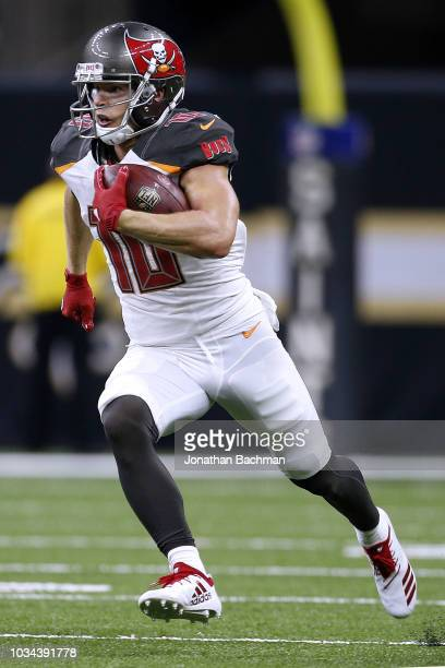 Adam Humphries of the Tampa Bay Buccaneers runs with the ball during a game against the New Orleans Saints at the MercedesBenz Superdome on September...