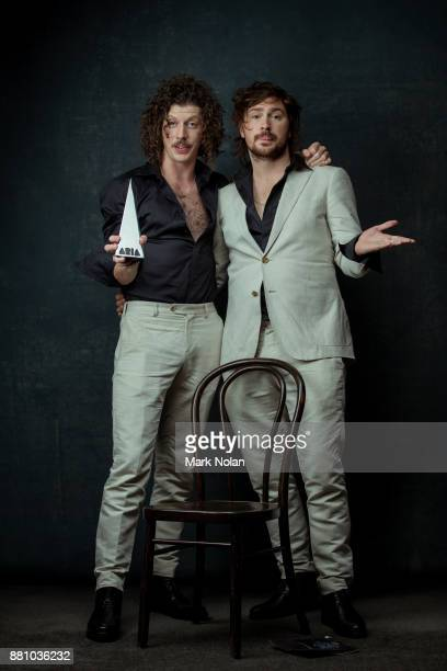 Adam Hyde and Reuben Styles of Peking Duk pose for a portrait with an ARIA for Apple Music Song of The Year during the 31st Annual ARIA Awards 2017...
