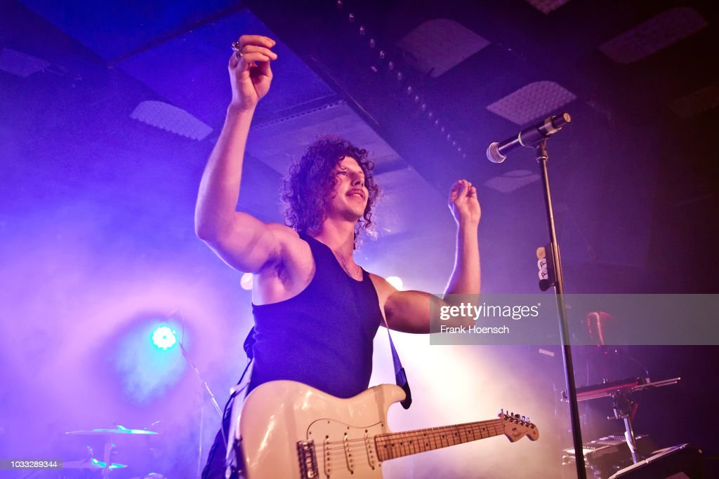Adam Hyde of the Australian band Peking Duk performs live on stage during a concert at the Musik und Frieden on September 14, 2018 in Berlin, Germany.