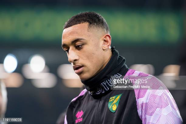 Adam Idah of Norwich City during the Premier League match between Norwich City and Crystal Palace at Carrow Road on January 1 2020 in Norwich United...